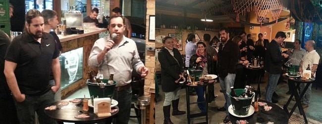 Cerveja do Iron Maiden: apresentação da cerveja ocorreu no Aconchego Carioca em São Paulo com a presença do pessoal da importadora On Trade e diversos formadores de opinião