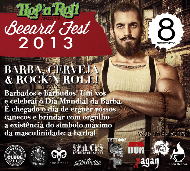 Dia da Barba será comemorado na Beeard Fest, com cerveja artesanal e rock, em Curitiba
