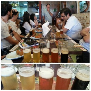 Sampa Beer Tour termina na Cervejaria Nacional, degustando a variedade de chopps da casa