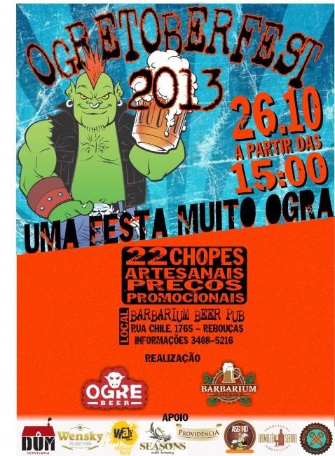 """Ogretoberfest: Ogre Beer e Barbarium promovem oktoberfest em Curitiba para comemorar """"promoção"""" da cervejaria"""