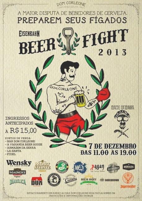 Beer Fight, as Olimpíadas dos bebedores de cerveja de Curitiba