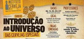 Curso de Introdução ao Universo das Cervejas Especiais com inscrições abertas