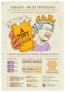 festa da cerveja inglesa pint with the queen