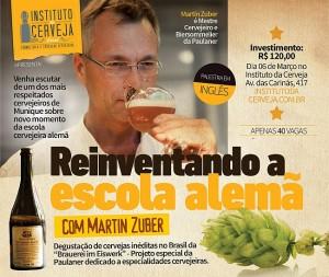 O mestre cervejeiro da Paulaner, Martin Zuber