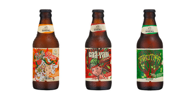 Cervejaria Bohemia lança Bela Rosa, Caá-Yari e Jabutipa em garrafas