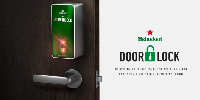 Para UEFA Champions League, Heineken cria fechadura que só abre com… Heineken