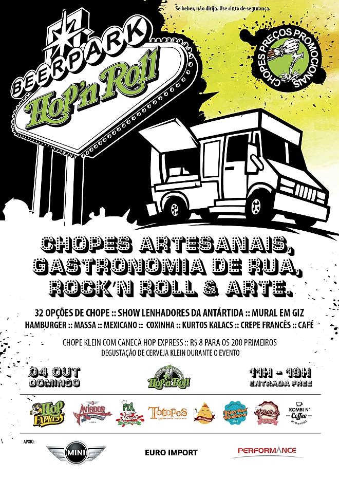 Beer Park Hop'n Roll terá 32 chopps neste domingo