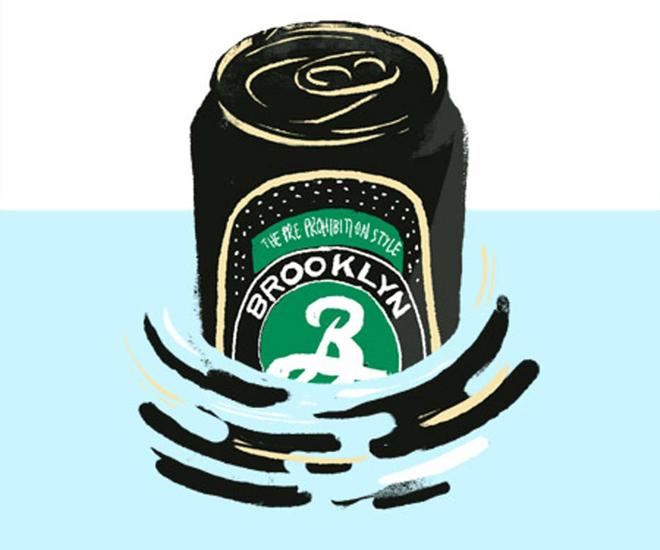 cerveja artesanal em lata brooklyn