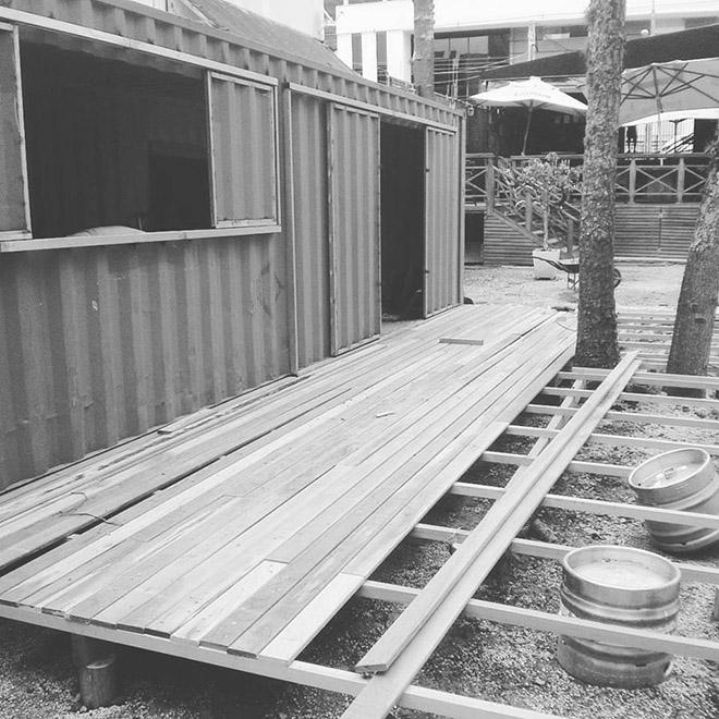 Hop Garden em construção