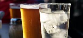 cerveja e água