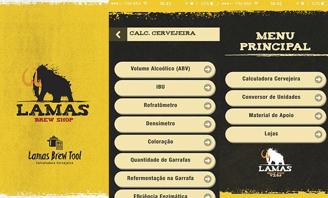 aplicativos cervejeiros Lamas brew tool