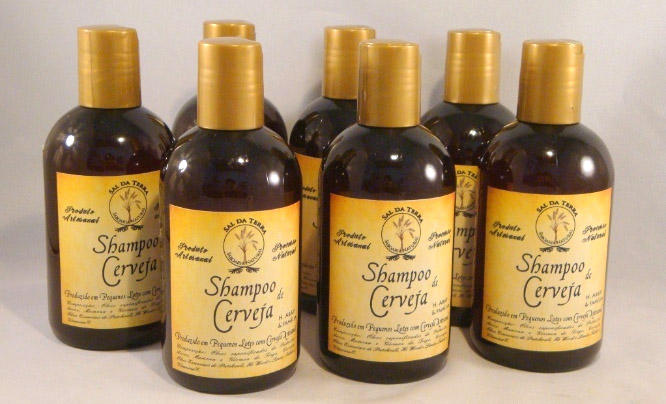 produtos com cerveja shampoo