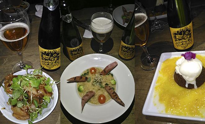 Pratos do jantar harmonizado por Allan Cunha