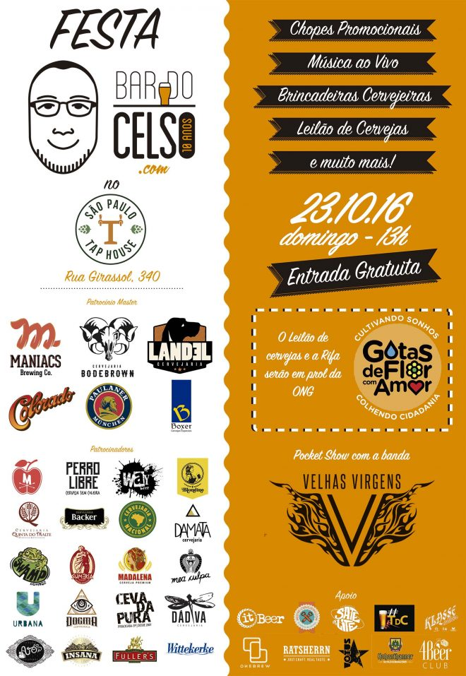 Cartaz 10 anos Bar do Celso SP A3