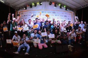 Mondial de La Bière Rio - Premiação do concurso MBeer Contest com os medalhistas no palco