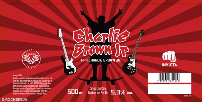 cerveja música charlie brown jr