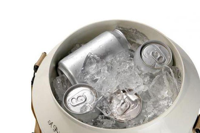 cooler com gelo - como gelar cerveja mais rápido