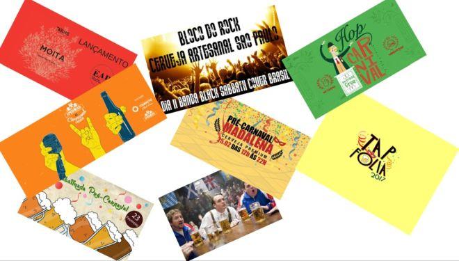 Agenda - Eventos Cerveja - Carnaval