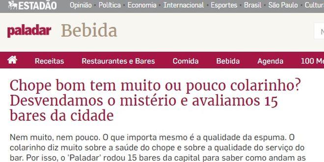 Estadão Paladar - Blitz Bares