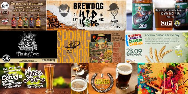 Spring Session Way, FestRioBeer e Cheers Festival são os destaques da semana da Agenda da Cerveja