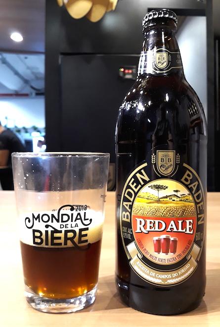 Baden Baden Red Ale maturada em Carvalho Francês, uma das muitas fortes e alcoólicas boas do Mondial