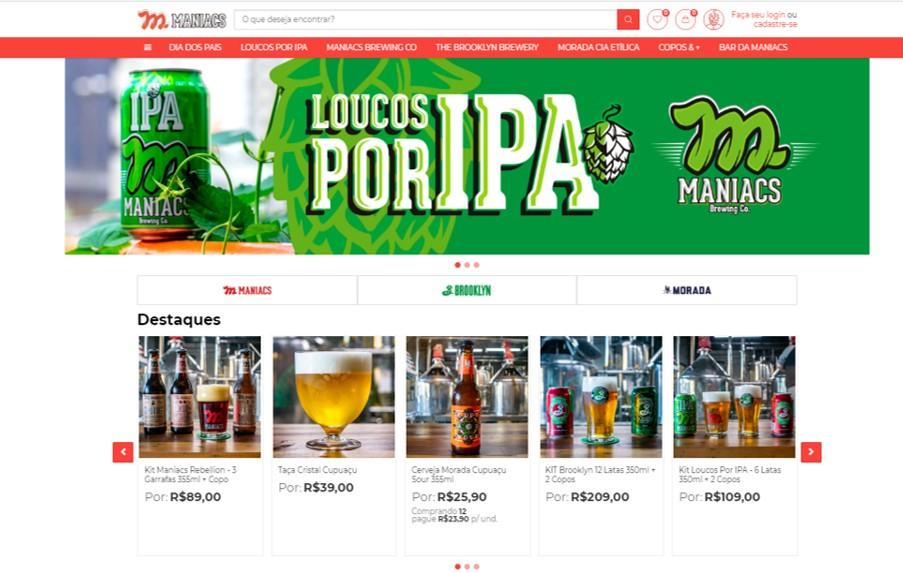 Maniacs Brewing Co. lança e-commerce próprio