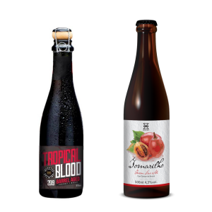 Cervejas Infected Tropical Blood Barrel Aged 2019 e Zalaz Tomarilho 2020